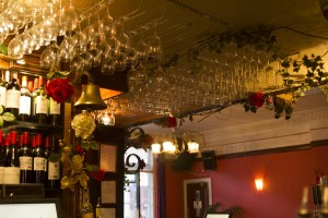 Around the bar area